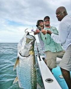 Caribbean tarpon fishing