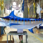 costa rica blue marlin mount