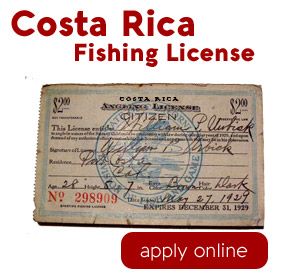 Apply online for each angler in your group you can get a Costa Rica fishing license entitling you to fish all over the country