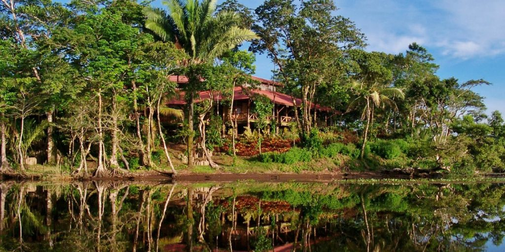 Beautiful Rio Indio Lodge nestled in the lush tropical jungle